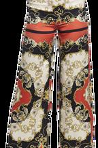 SCARF PRINT PANT in colour CLOUD DANCER