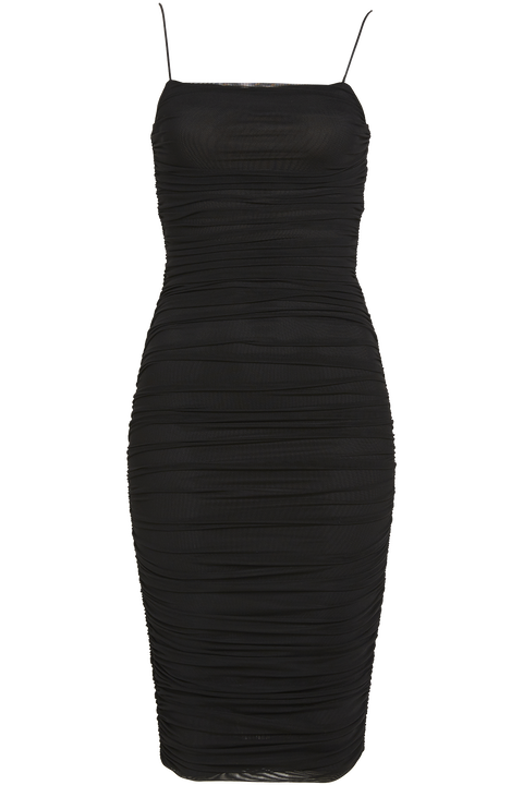 NAOMI DRESS in colour CAVIAR