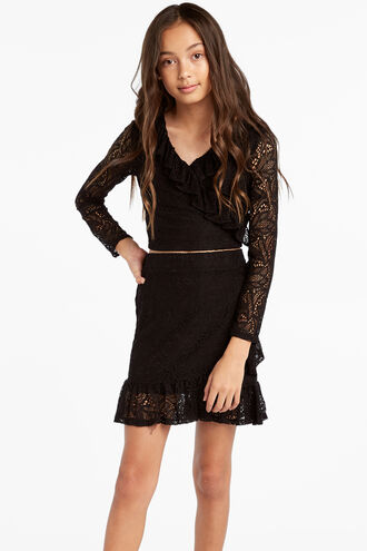 SELINA LACE SKIRT in colour JET BLACK