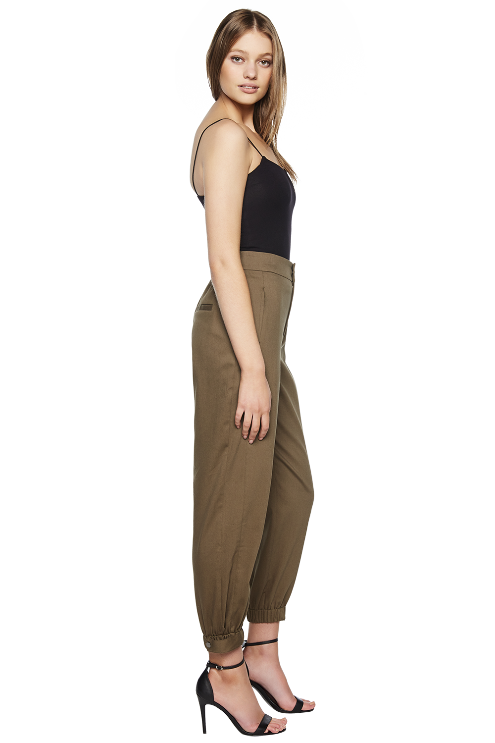 MISCHIEF PANT in colour BURNT OLIVE