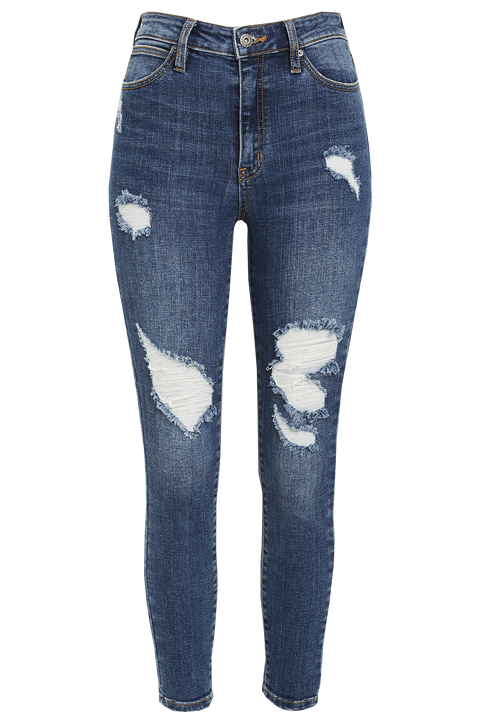 KHLOE HI CROP JEAN in colour TRUE NAVY