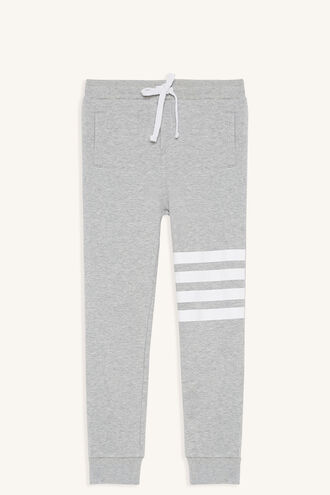 SPORTY STRIPE TRACK PANT in colour MOONBEAM