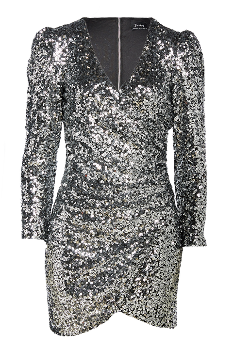 SEQUIN SPARKLE DRESS in colour LUNAR ROCK