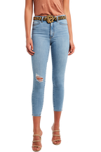 KHLOE HI CROP JEAN in colour DREAM BLUE