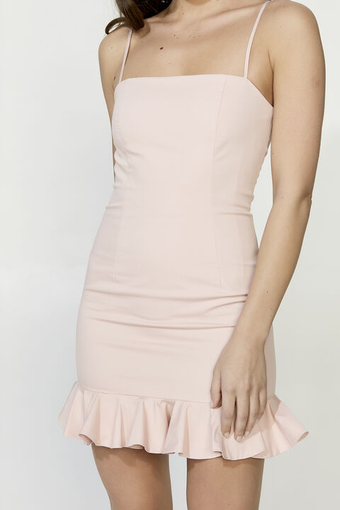 HAVANA MINI DRESS in colour PARFAIT PINK