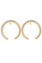 DISSAPEARING HOOP EARRINGS in colour GOLD EARTH