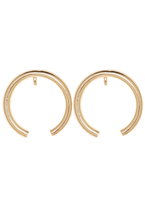 DISSAPEARING HOOP in colour GOLD EARTH