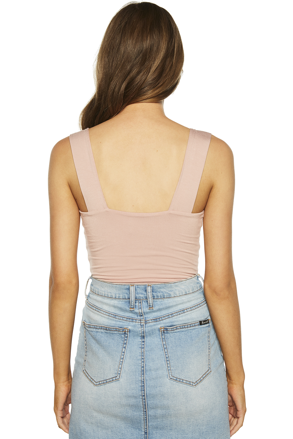 MIMI BODYSUIT in colour ADOBE ROSE