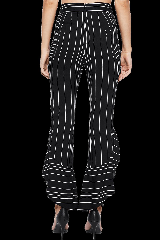 ETTA FRILL CULOTTE PANT in colour CAVIAR