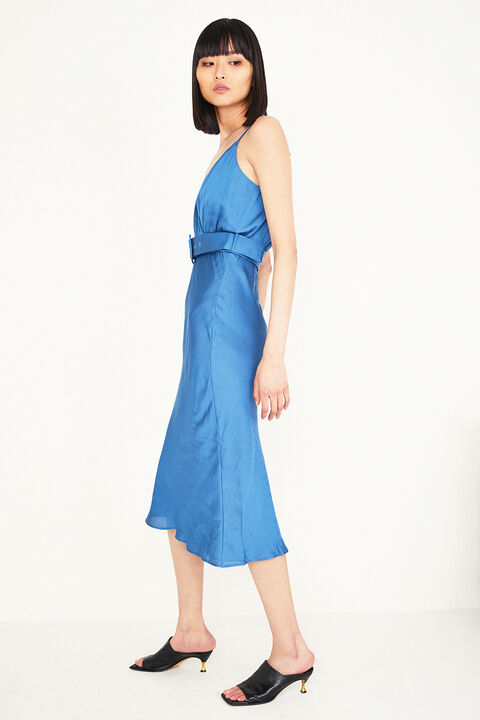 REAGAN MIDI DRESS in colour BAYBERRY