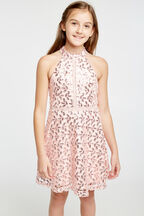 TWEEN GIRL GEMMA HALTER DRESS   in colour POTPOURRI