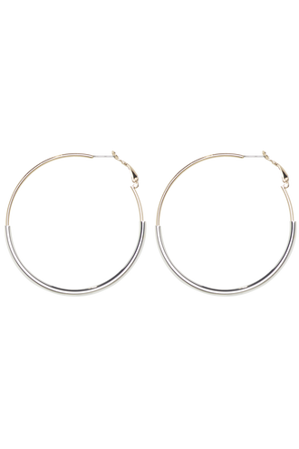 TUBED HOOPS in colour GOLD EARTH