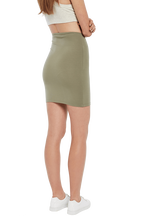 CHLOE MINI SKIRT in colour DEEP LICHEN GREEN