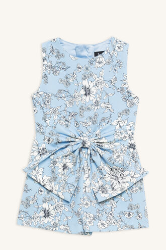 SYBIL BOW PLAYSUIT in colour LOTUS
