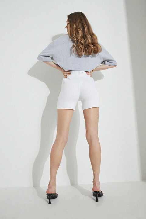KNIT SHORTS in colour BRIGHT WHITE