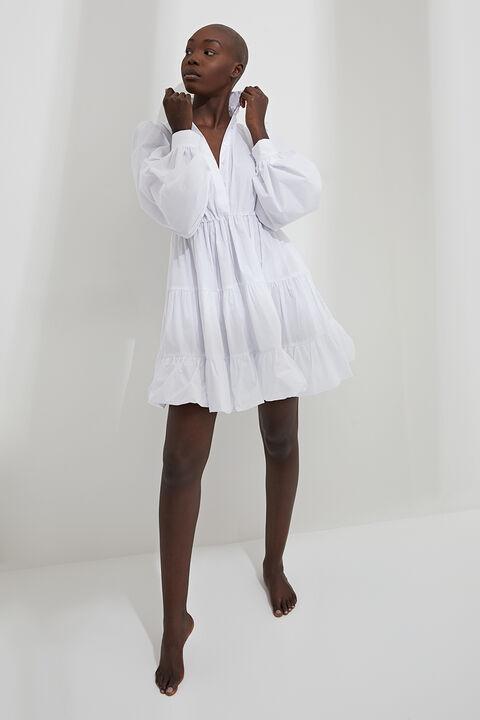 THE MINI POPLIN DRESS in colour BRIGHT WHITE