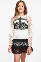 ARABELLA LACE DRESS in colour CAVIAR