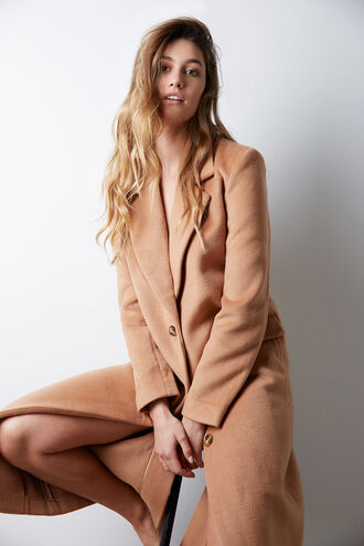 DELTA LONG COAT in colour TAN