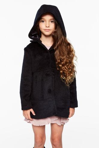 WYNTER FURRY COAT in colour BLACK IRIS