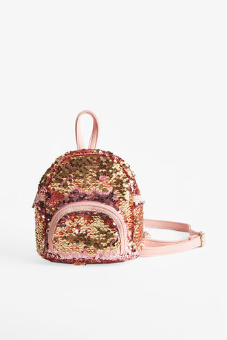 LILY SEQUIN BACKPACK in colour PINK CARNATION
