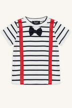 BOW TIE TEE in colour BRIGHT WHITE