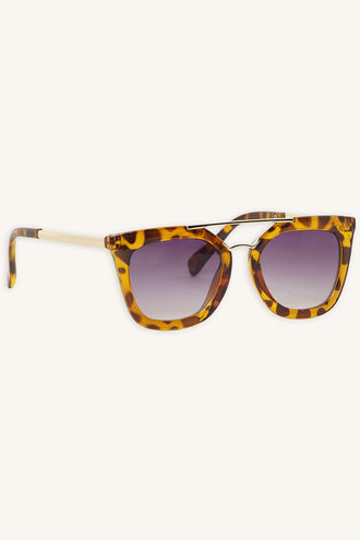 EMMA_ AVIATOR SUNGLASSES in colour TORTOISE SHELL