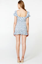 HALSEY MINI DRESS in colour TRUE NAVY