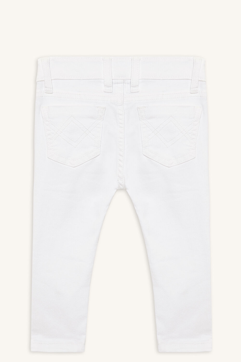OLI ZIP JEAN in colour BRIGHT WHITE