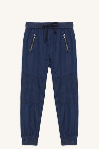 CHAMBRAY SLOUCH PANT in colour DRESS BLUES