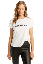 MON AMOUR TEE in colour BRIGHT WHITE