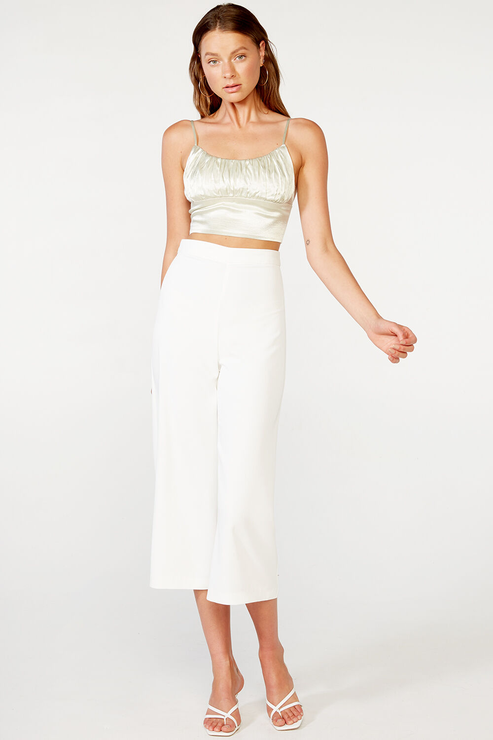 PARISIENNE CROP PANT in colour CLOUD DANCER