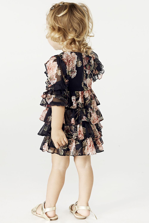 BABY GIRL TIA RA RA DRESS in colour JET BLACK