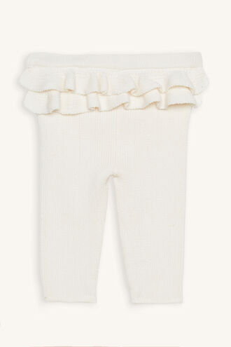 RUFFLE KNIT PANT in colour WHISPER WHITE