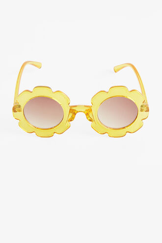 FLOWER SUNGLASSES in colour TRANSPARENT YELLOW