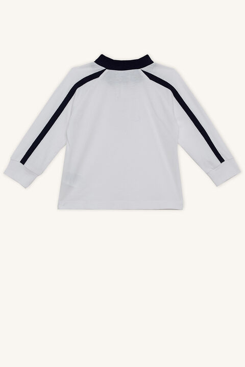 CONTRAST RAGLAN TEE in colour BRIGHT WHITE