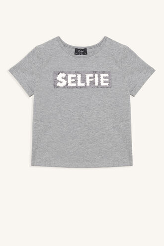 GOLDEN SELFIE TEE in colour FROST GRAY