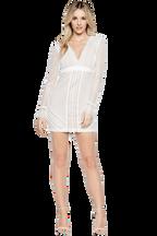 CLIO PANELLED DRESS in colour CLOUD DANCER