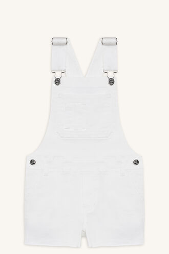 TRASH DUNGAREE OVERALL in colour CLOUD DANCER