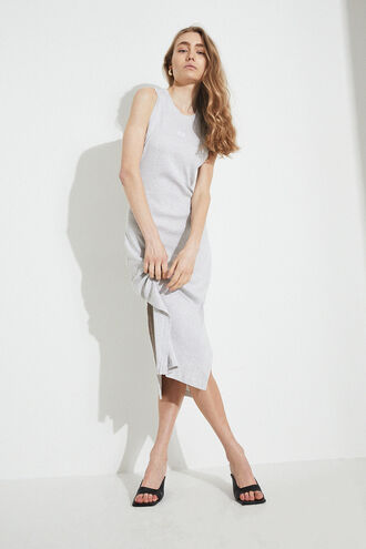 SEMRA BASIC DRESS in colour HIGH-RISE