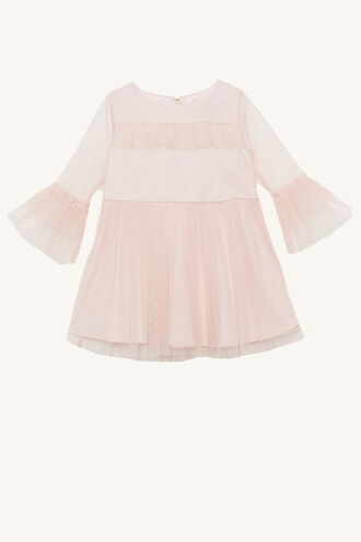 NADINE MESH DRESS in colour CRYSTAL PINK