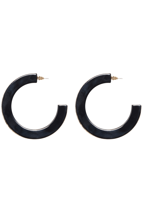 2 TONE HOOPS in colour METEORITE