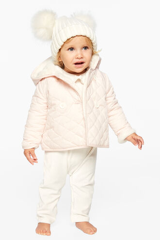 AUDREY QUILTED JKT in colour ROSEWATER
