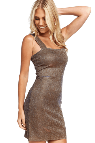 MINI SPARKLE DRESS in colour FROSTED ALMOND