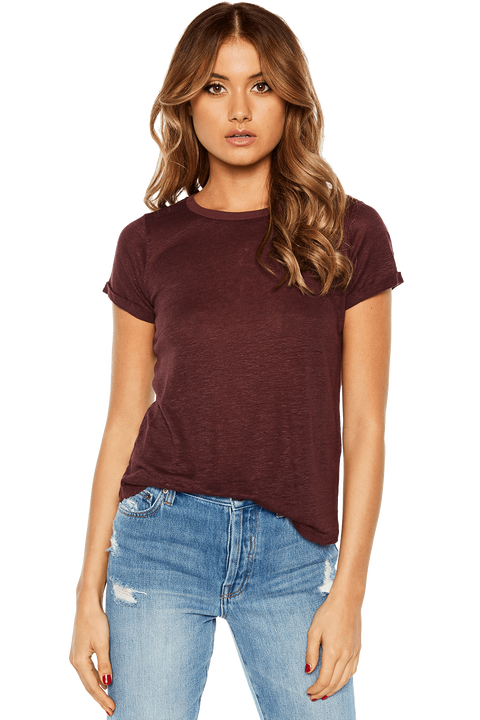 BRIXTON TEE in colour RHODODENDRON