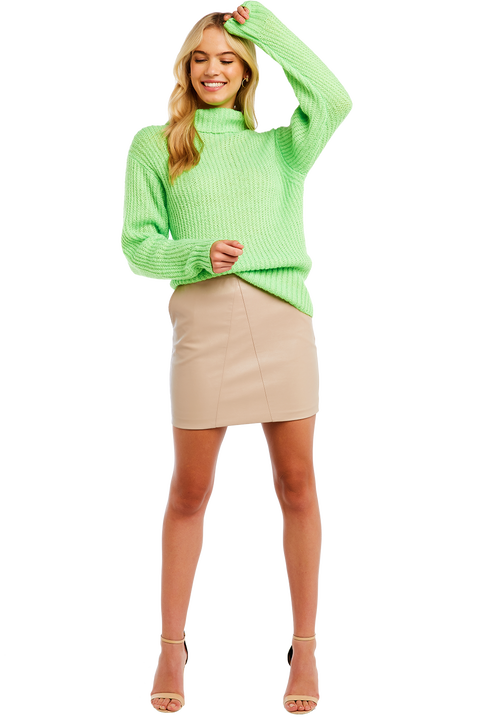 COSY NEON KNIT in colour GREEN FLASH