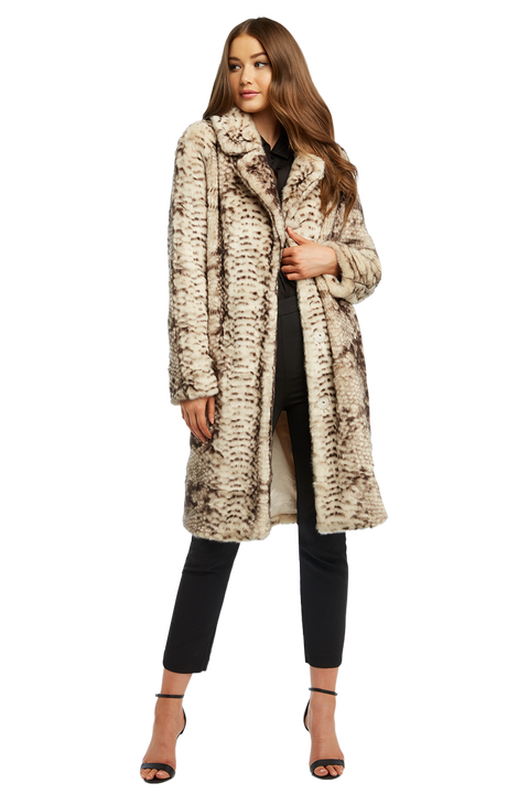 FAUX FUR SNAKE COAT
