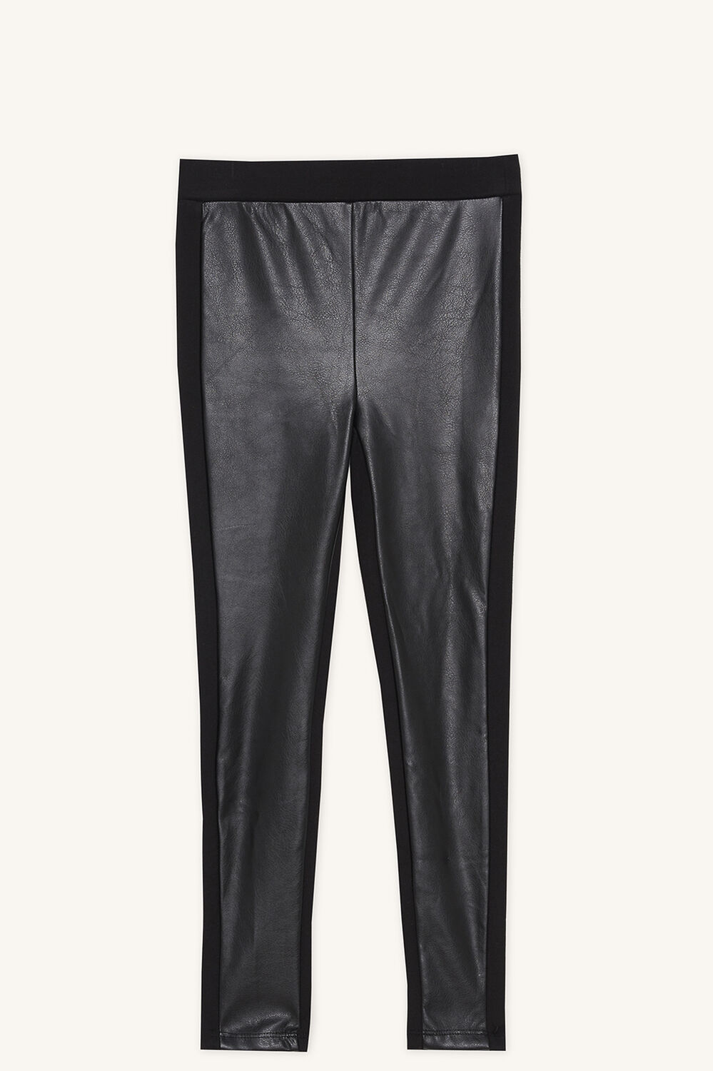 TALITA PU PANT in colour JET BLACK