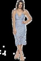 VIENNA DRESS in colour ASHLEY BLUE