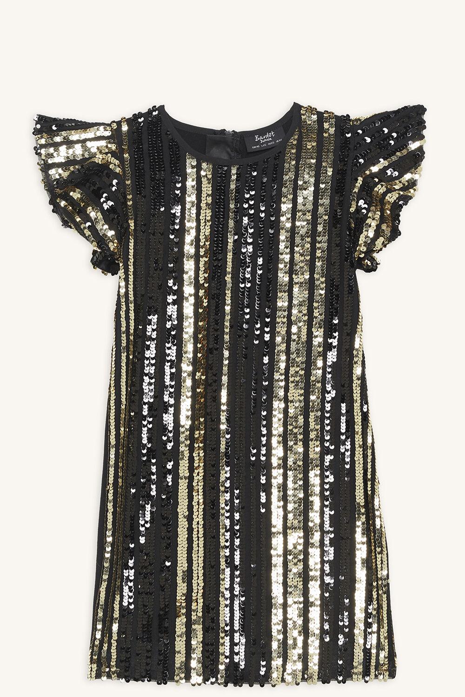 TILLEY SEQUIN DRESS in colour JET BLACK