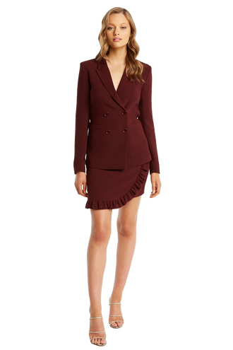ROMY BLAZER in colour BURGUNDY